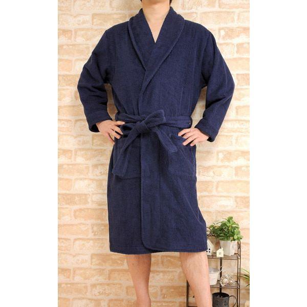 バスローブ男女兼用タオル地大きいサイズLL