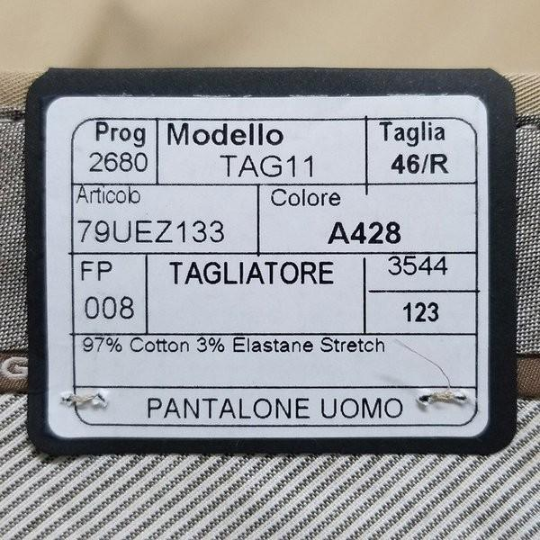 タリアトーレ 1プリーツパンツ Tag11 ストレッチコットン Tagliatore 正規販売店 hff 09