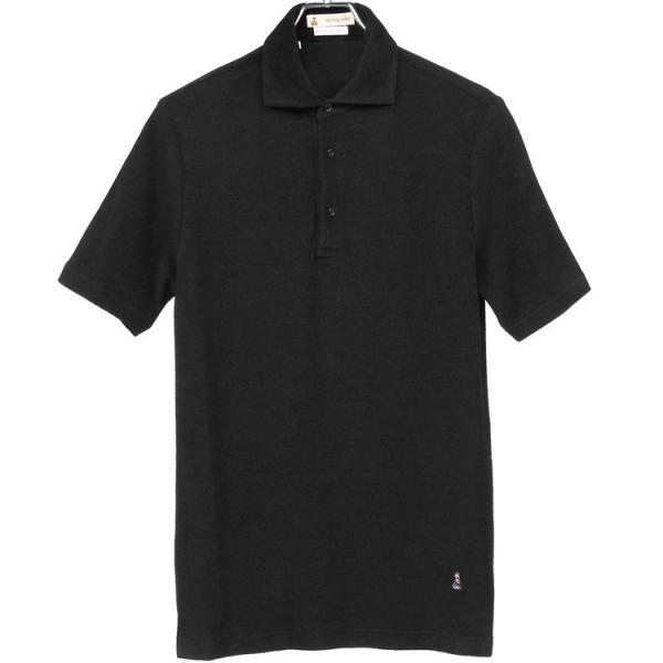 ギ・ローバー Guy Rover ポロシャツ ホリゾンタルカラー パイル hff 06