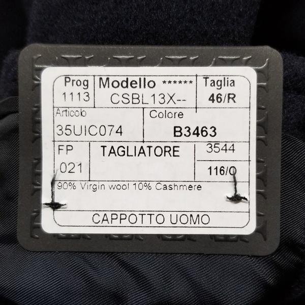 タリアトーレ シングルチェスターコート CSBL13X ウールカシミア Tagliatore 正規販売店|hff|12