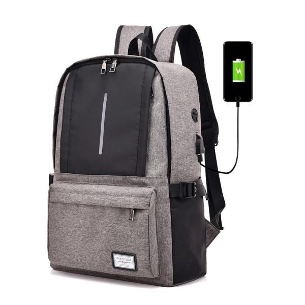 リュック ビジネス キャンバス USBポート おしゃれ 可愛い 学生 大容量 A4 リュックサック バックパック デイパック バックハンガー セット|hfs05|05