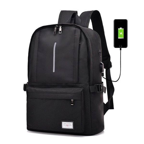 リュック ビジネス キャンバス USBポート おしゃれ 可愛い 学生 大容量 A4 リュックサック バックパック デイパック バックハンガー セット|hfs05|06
