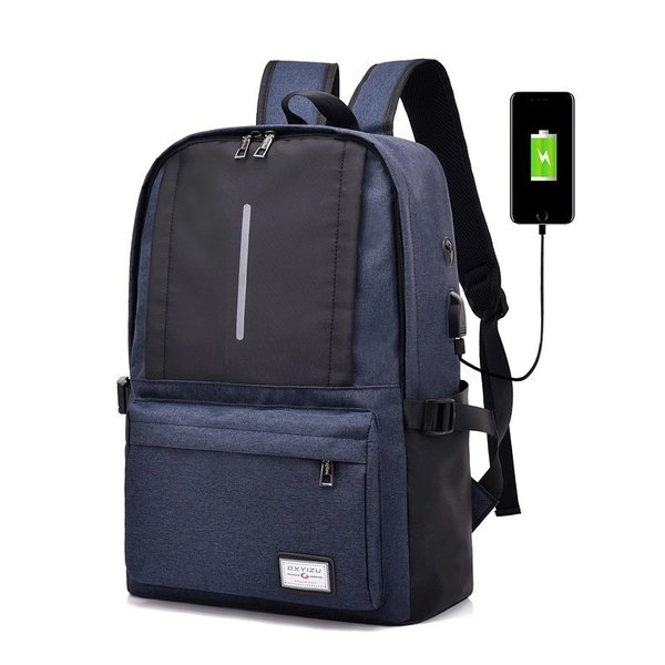 リュック ビジネス キャンバス 充電用USBポート付き おしゃれ 可愛い 学生 大容量 A4 リュックサック バックパック デイパック かばん|hfs05|06
