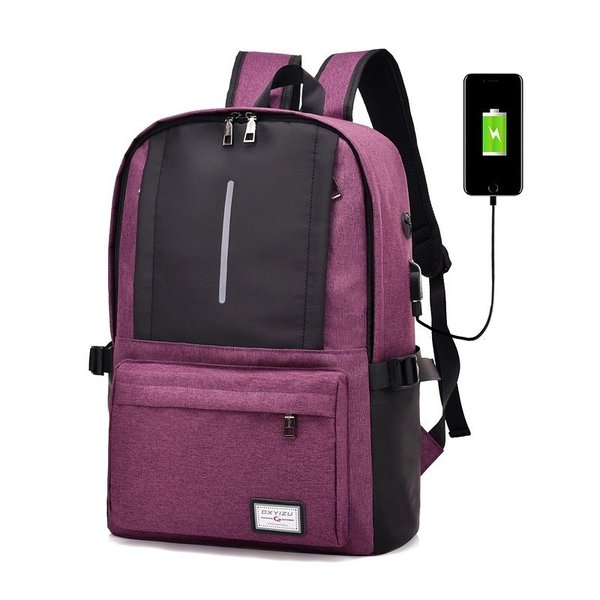 リュック ビジネス キャンバス 充電用USBポート付き おしゃれ 可愛い 学生 大容量 A4 リュックサック バックパック デイパック かばん|hfs05|07