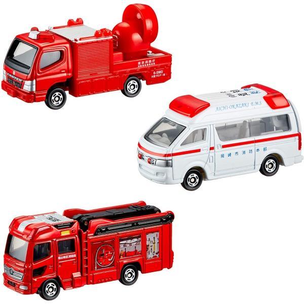 トミカ ギフト 119番!緊急車両&DVDセット|hfs05