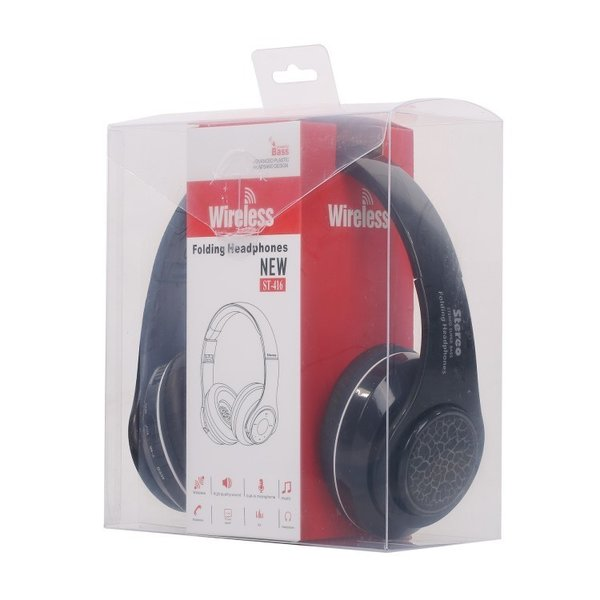 Bluetoothワイヤレス ヘッドホン/ヘッドフォン Squid 折りたたみ式 通話機能 有線接続可 LEDTYPE|hfs05|06