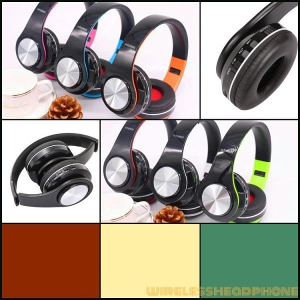 Bluetoothワイヤレス ヘッドホン/ヘッドフォン Sepia 折りたたみ式 通話機能 有線接続可 normalTYPE|hfs05|02
