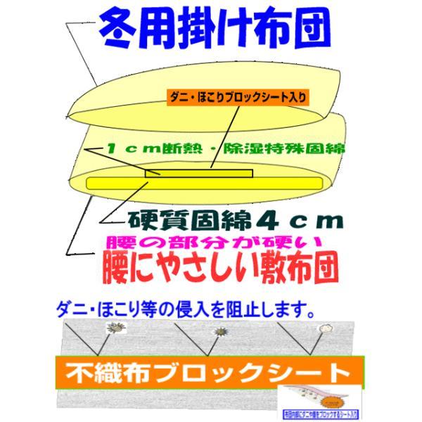腰痛 布団セットシングル 日本製 防ダニドクターEs 洗える疲労回復バランス硬質掛け敷き組布団セットシングルサイズ hghr 10