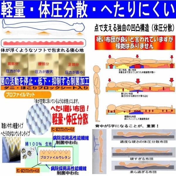 布団セット シングル 組布団セット  体が浮いているような 日本製 病院採用 防ダニ掛け敷き体圧分散ボリューム敷布団セットEs-O|hghr|04