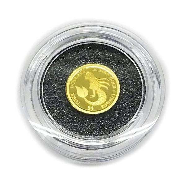 マーメイド・コインジュエリー 純金1/30オンスNZ$4 (ニュージーランド・ドル)2021 Mermaid Coin 直径12mm 限定発行 1000枚/送料無料
