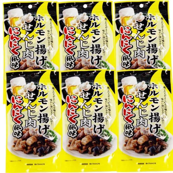 送料無料 広島名産 ホルモン揚げ せんじ肉 にんにく風味 6袋セット (1袋40g×6) ホルモン珍味 せんじがら 大黒屋食品