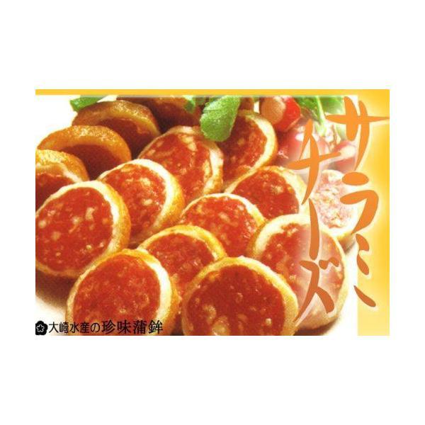 サラミチーズ 珍味蒲鉾 10枚入り×5 2箱セット 送料無料 クール便   おつまみ かまぼこ 大崎水産