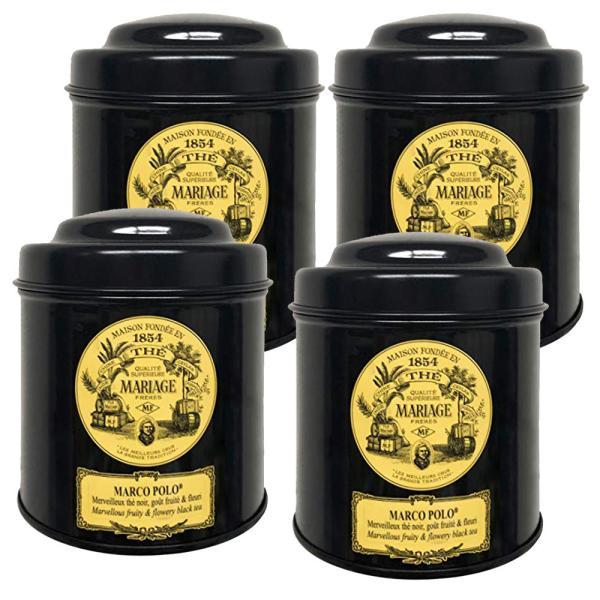 マリアージュフレールマルコポーロ100g4缶セット(100g×4)茶葉リーフティ紅茶フランス