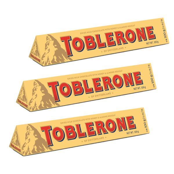トブラローネ ミルク 100g  3本セット スイスチョコレート 送料込み クール便 輸入チョコレート