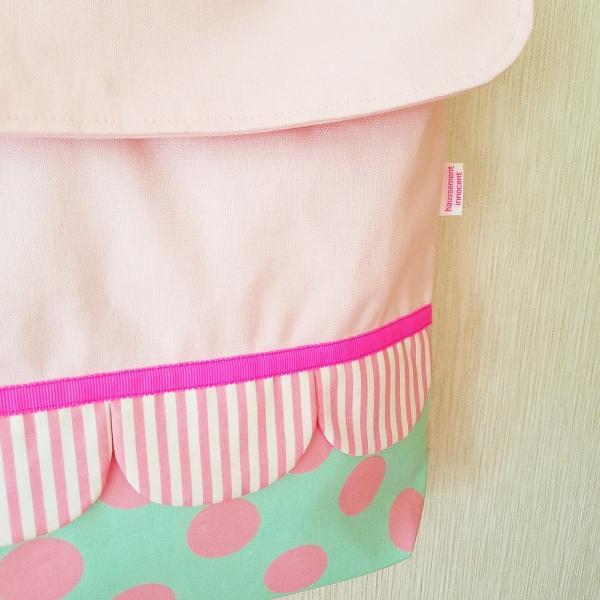 帆布とスカラップのkidsショルダーバッグ(受注製作)「hussement innocent」|hi-inari|03