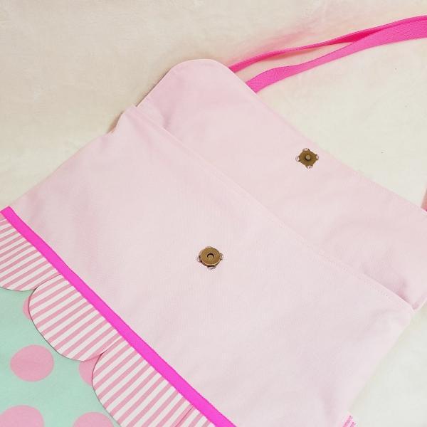 帆布とスカラップのkidsショルダーバッグ(受注製作)「hussement innocent」|hi-inari|04