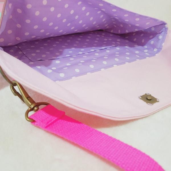 帆布とスカラップのkidsショルダーバッグ(受注製作)「hussement innocent」|hi-inari|05