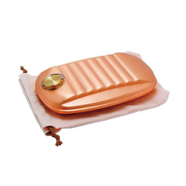 純銅 湯たんぽ ( 大 / 袋付 ) 銅製 湯たんぽ hi-select