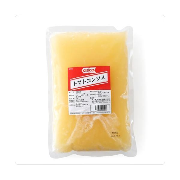 コンソメ スープ キスコ社製 高糖度の国産トマトを使用。トマトのフレッシュな香りと旨みを最大限に引き出したクリアなコンソメ。トマトコンソメ 1kg
