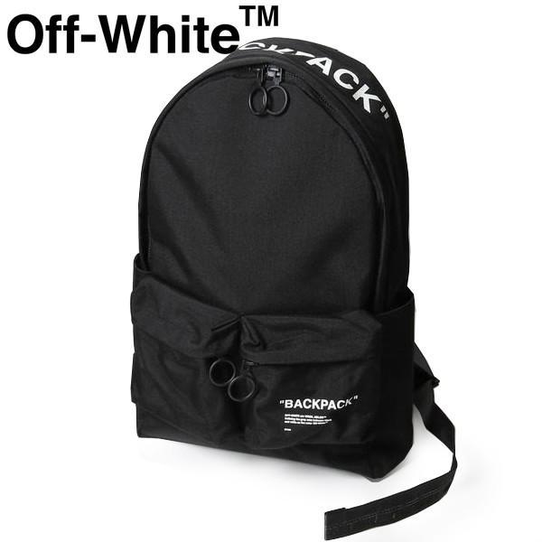 リュック OFF-WHITE オフホワイト メンズ/レディース バックパック ロゴプリント eow20s002 OMNB003R20521038 ブラック