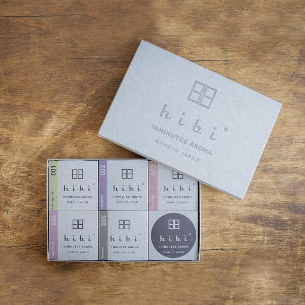 5つの香りギフトボックス(ペーパーバッグ付)|hibi-aroma