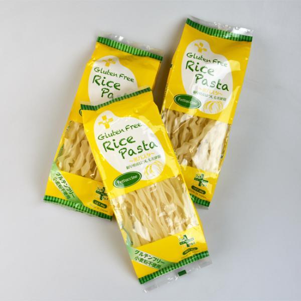 プラス グルテンフリー 米粉パスタ フェットゥッチーネ 80g (1食分) 3個セット フェットチーネ 乾麺
