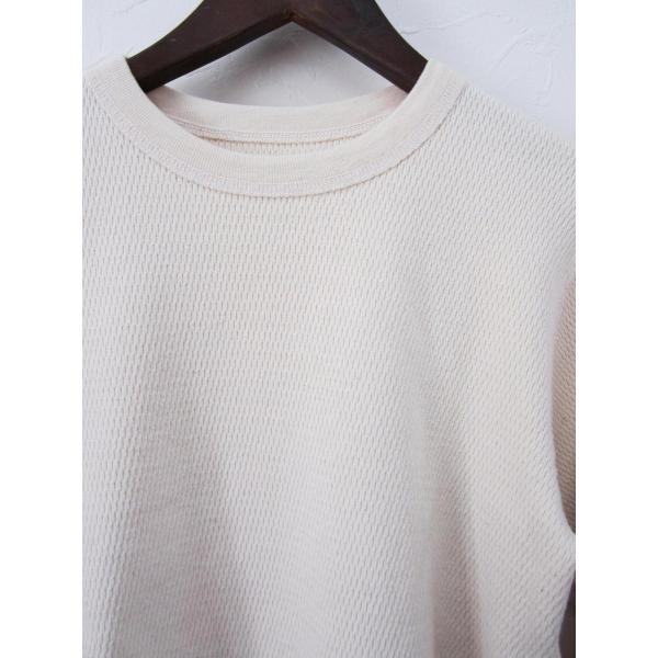 U.S.A. Heavyweight Thermal Crew L/S T-Shirts サーマル ロングスリーブTシャツ アメリカ製 長袖_NATURAL|hidingplace|02