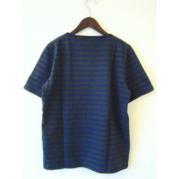 TIEASY AUTHENTIC CLASSIC HDCS BOATNECK S/S BORDER BASQUE SHIRT ボートネック ボーダー バスクシャツ 半袖 Tシャツ カットソー_NAVY×FOREST GREEN|hidingplace|03