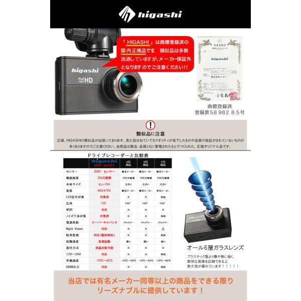 ドライブレコーダー ドラレコ 今だけ16GB SDカードプレゼント SONYセンサー WDR 一体型 フルHD 広角170° 高画質 1080P|higashi-corp|06