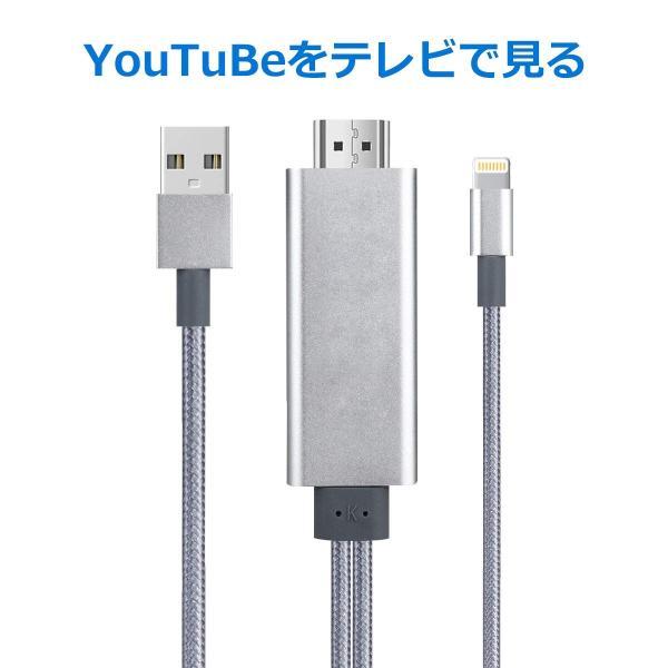 iPhone iPad HDMI 変換ケーブル Lightning to HDMI接続アダプタ iPhone テレビ  ライトニング HDMI 変換アダプタ 1080P高解像度映像|higashiya