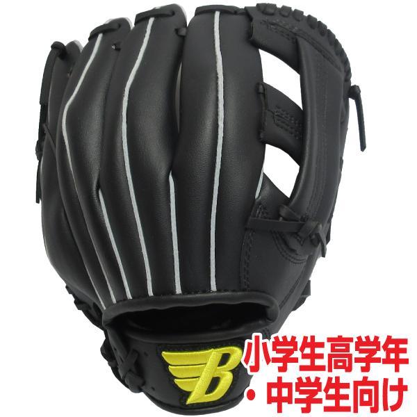 BRETT軟式用野球グローブ11.5インチ小学生高学年中学生向け右投げ用(カラー/ブラック)