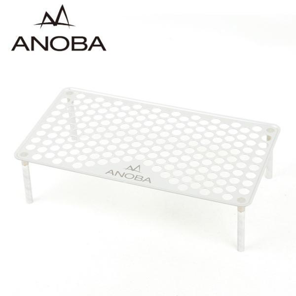 ANOBAアノバUSSOLOTABLEPUNCHINGTYPEUSソロテーブルパンチングAN001 最軽量/軽い/アルミテーブル