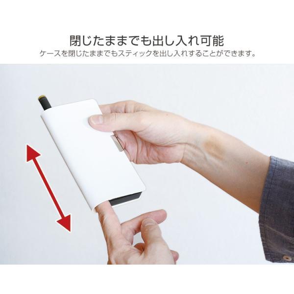 プルームテック ケース Ploom TECH ケース コンパクト 手帳型 カバー 2本 PUレザー 電子タバコ PloomTech 革 レザー プリント|highcamp|10