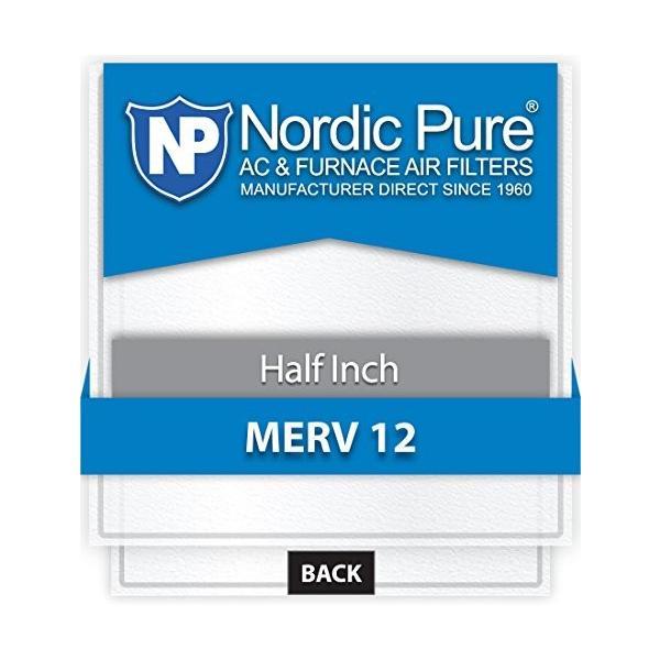 Nordic Pure 20*x 20*x _ 1*/ 2*_ m12***12*1*/ 2インチエアフィルタMERV 12、12のボックス
