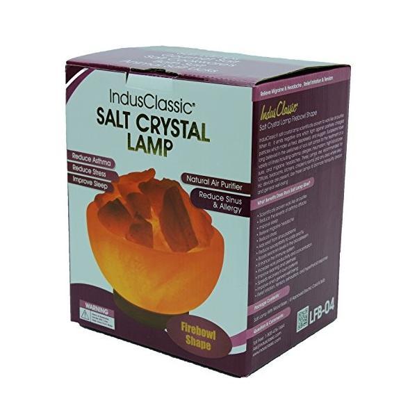 インダスクラシックlfb-04*Himalayan Fireボウル塩ランプナチュラルクリスタルロック。 3.5-Inch, 7-9-Pound