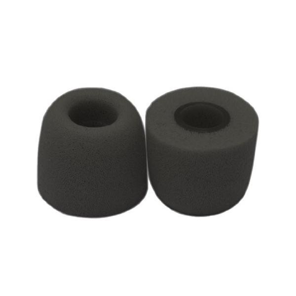 VeritasメモリーフォームイヤホンヒントFoam Tips ( Fits 4*mm-5.5*mm直径ノズル、ダークグレー、4ペア、S