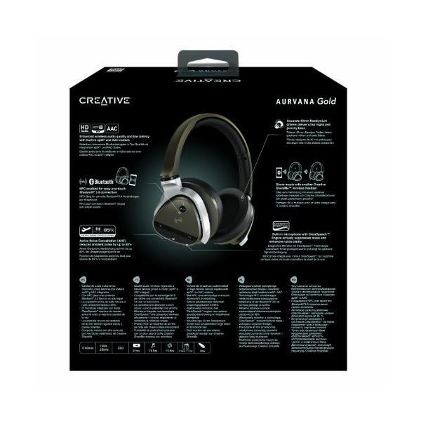 クリエイティブ Bluetoothヘッドホン HS-AVNGLD