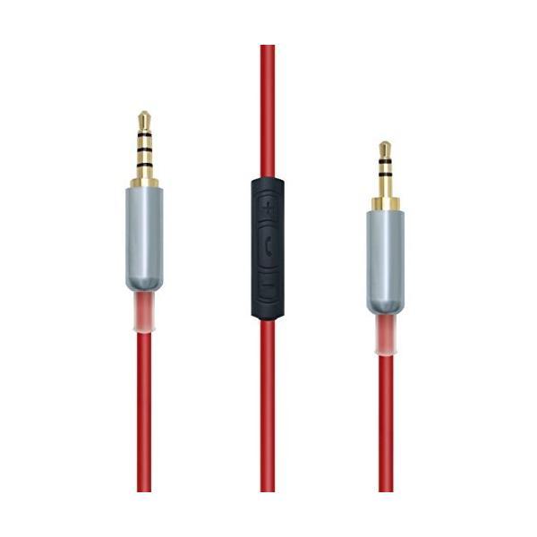 gotor交換用アップグレードケーブルコードfor Bose oe2*oe2iヘッドフォン(レッド) 1.2*M