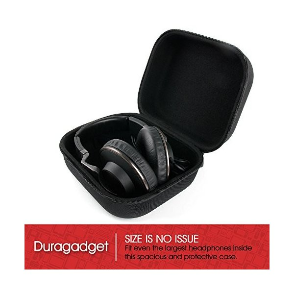 大きなマットブラックTough EVAストレージCarry Case for Avegant Glyphヘッドセット***by DURAGADGET