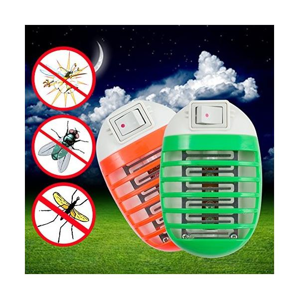 Carejoy 蚊取り器 捕虫機 LED搭載 mini リビング オフィス アウトドア ソケット式携帯便利 殺虫剤不要 静音 省エネ 環境に優しい