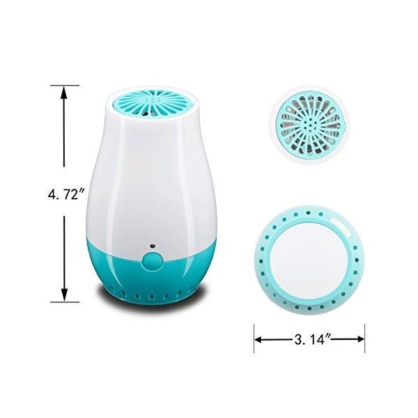 Zisen 多機能脱臭器オゾン空気清浄機 オゾナイザー イオナイザー 臭気エリミネータ USB給電 冷蔵庫用 ワードローブキャビネット用
