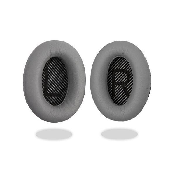 [REYTID]Bose QuietComfort 15/QC15/QC2 ヘッドフォン灰色交換用耳パッド クッション キット - 1 ペア