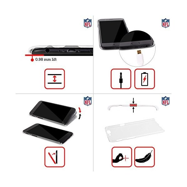 オフィシャル NFL LED 2017/18 ニューオリンズ・セインツ ハードバックケース OnePlus 5