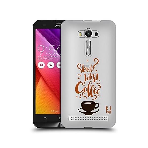 Head Case Designs But First Coffee コーヒー&ドーナッツ ハードバックケース Zenfone 2 Laser