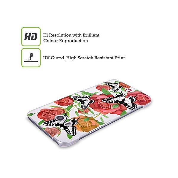 Head Case Designs ローズ バタフライ・ガーデン ハードバックケース HTC U11 / Dual