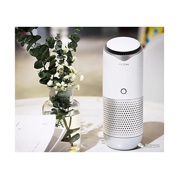 オフィス最適・車載・卓上用コンパクト空気清浄機イオン発生 花粉症・PM2.5対策対応 アロマ機能搭載