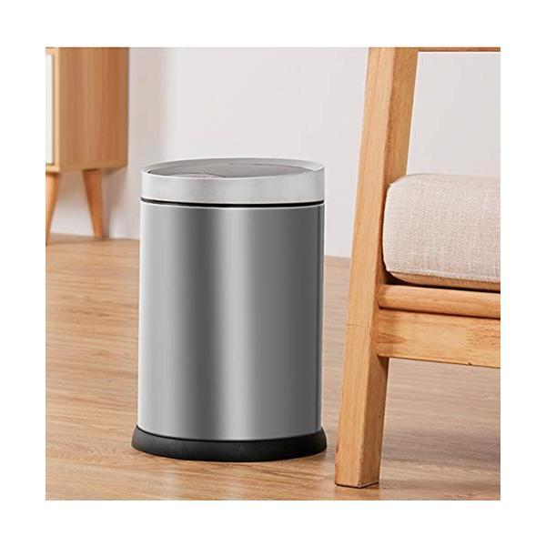スマートゴミ箱ステンレススチール素材自動誘導ホームリビングクリエイティブパーソナリティフリップシリンダーシルバー (サイズ さいず : S s) highlight