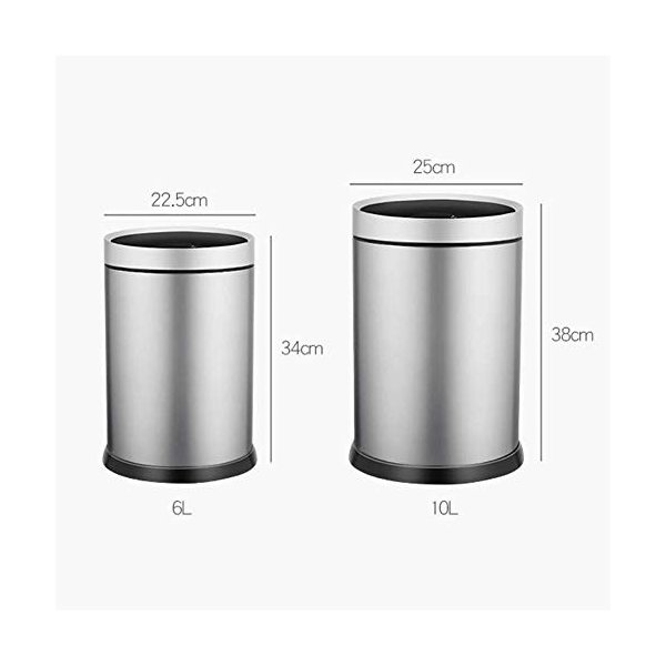 スマートゴミ箱ステンレススチール素材自動誘導ホームリビングクリエイティブパーソナリティフリップシリンダーシルバー (サイズ さいず : S s) highlight 03