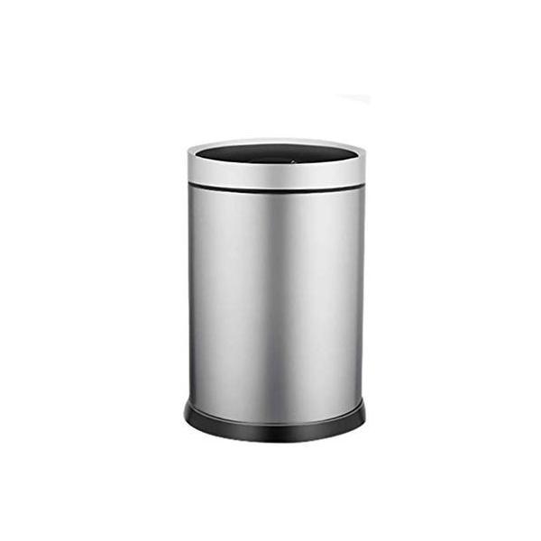 スマートゴミ箱ステンレススチール素材自動誘導ホームリビングクリエイティブパーソナリティフリップシリンダーシルバー (サイズ さいず : S s) highlight 07