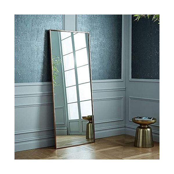 錬鉄製スクエアバスルームミラー衣料品店寝室の床フルボディミラーバスルームの壁鏡|highlight